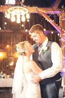 The first dance - notice the handmade lighting! - Wedding Photography by Alex Buntin in Fresno, CA